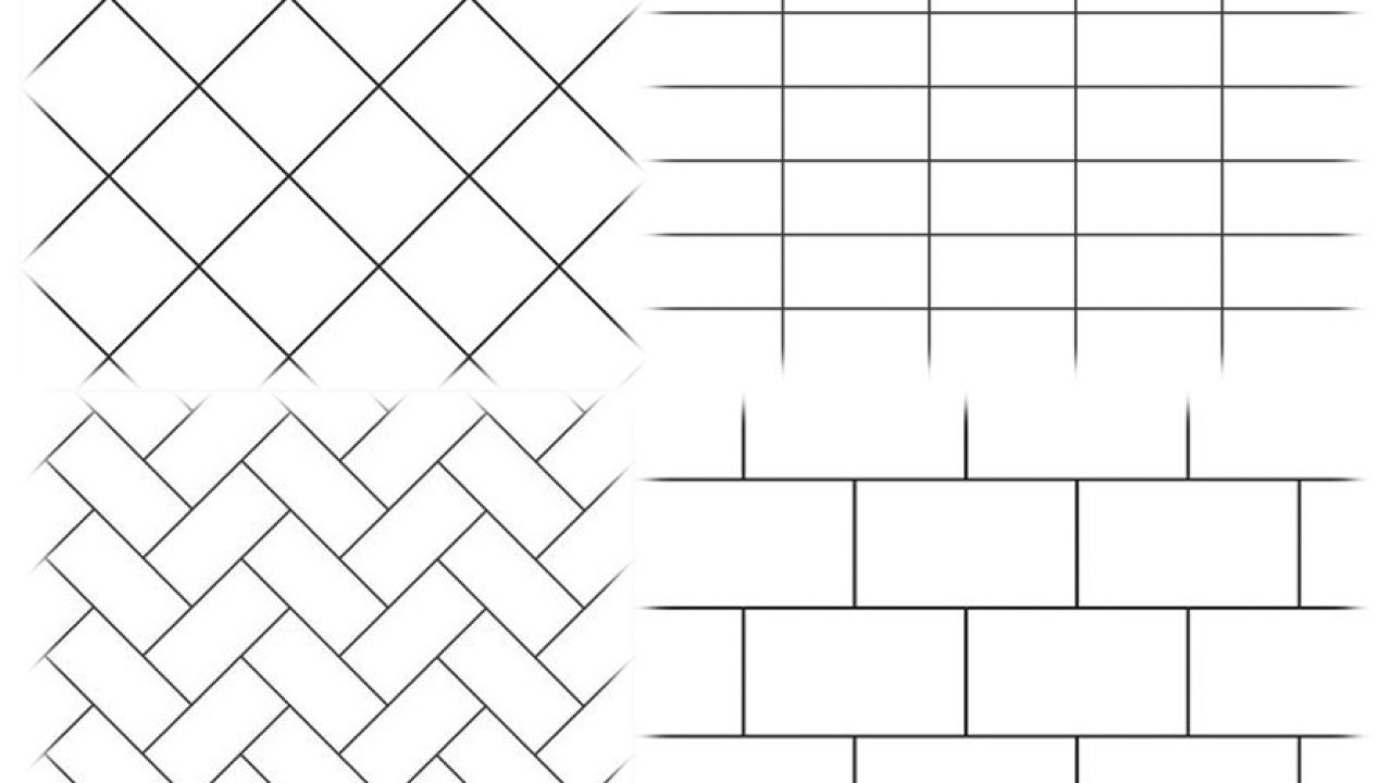top 4 tile patterns for walls and floors