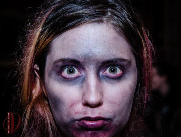 Zombie cheerleader.