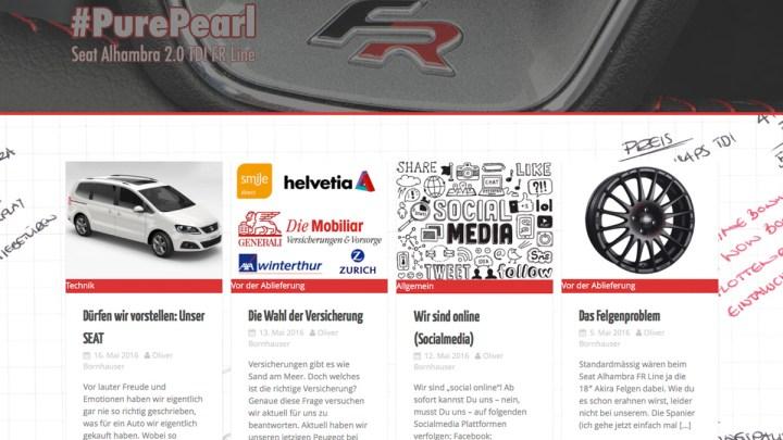 Neues Auto – neue Homepage