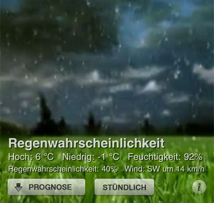 App Empfehlung: Weather HD