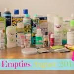 Empties August 2014