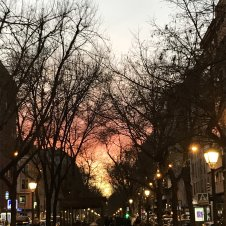 Sunset while in Madrid