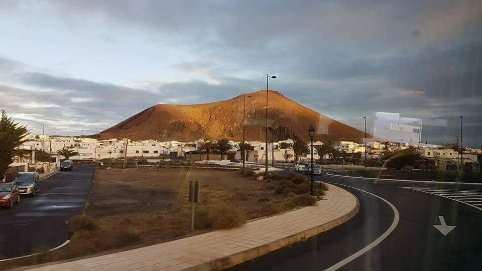 View of the volcanic mountain Lanzarote, Spain