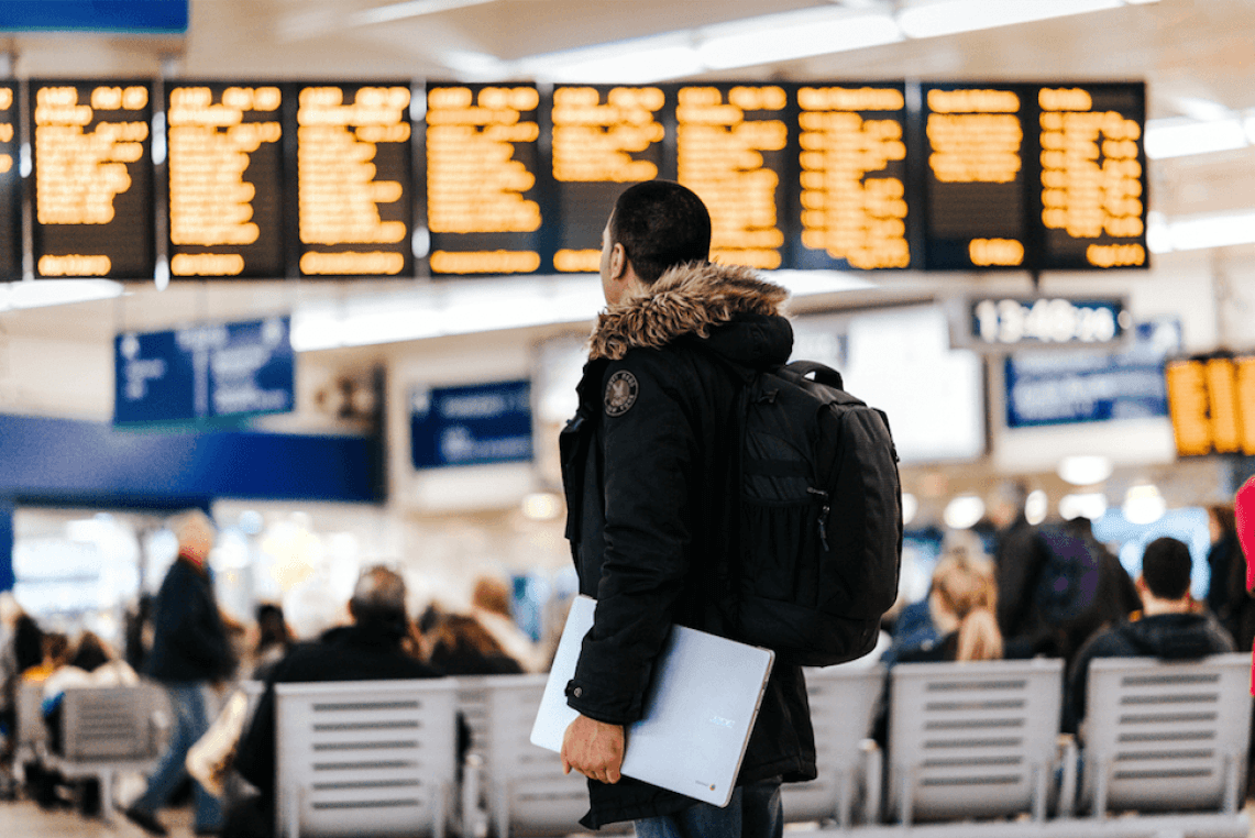 traveling abroad expat airport