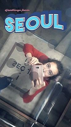 studying abroad seoul mirror elevator Zoe Ezechiels