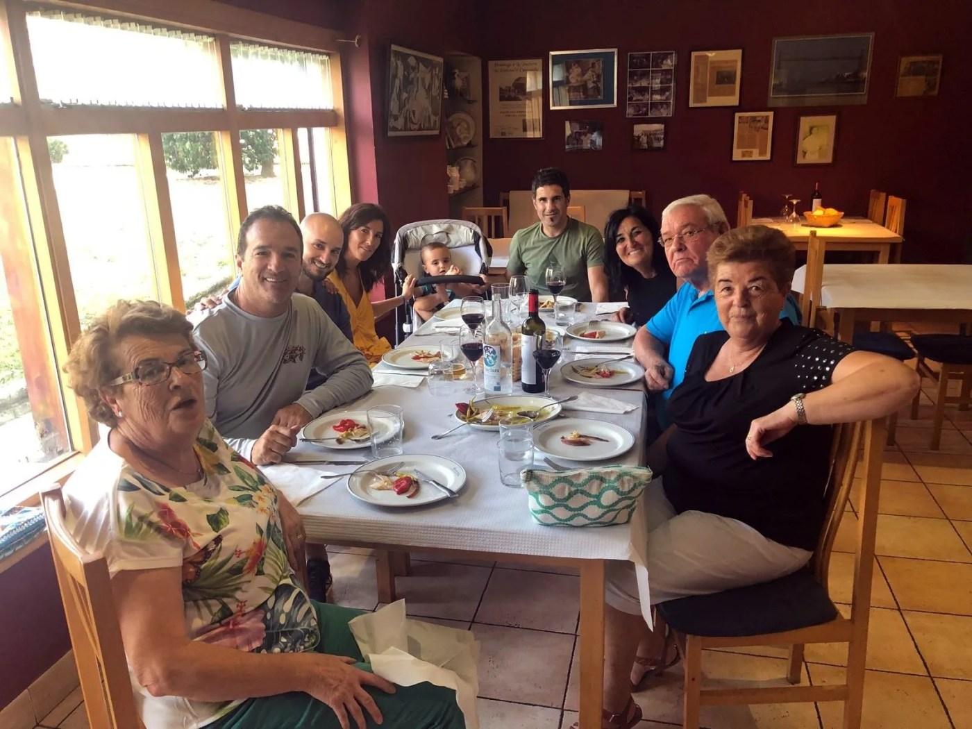 family dinner in bocairent spain
