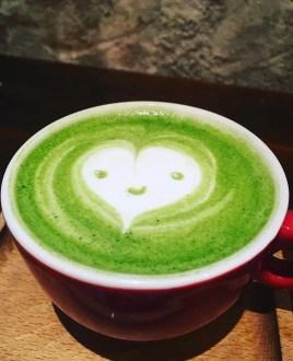 cafés green tea