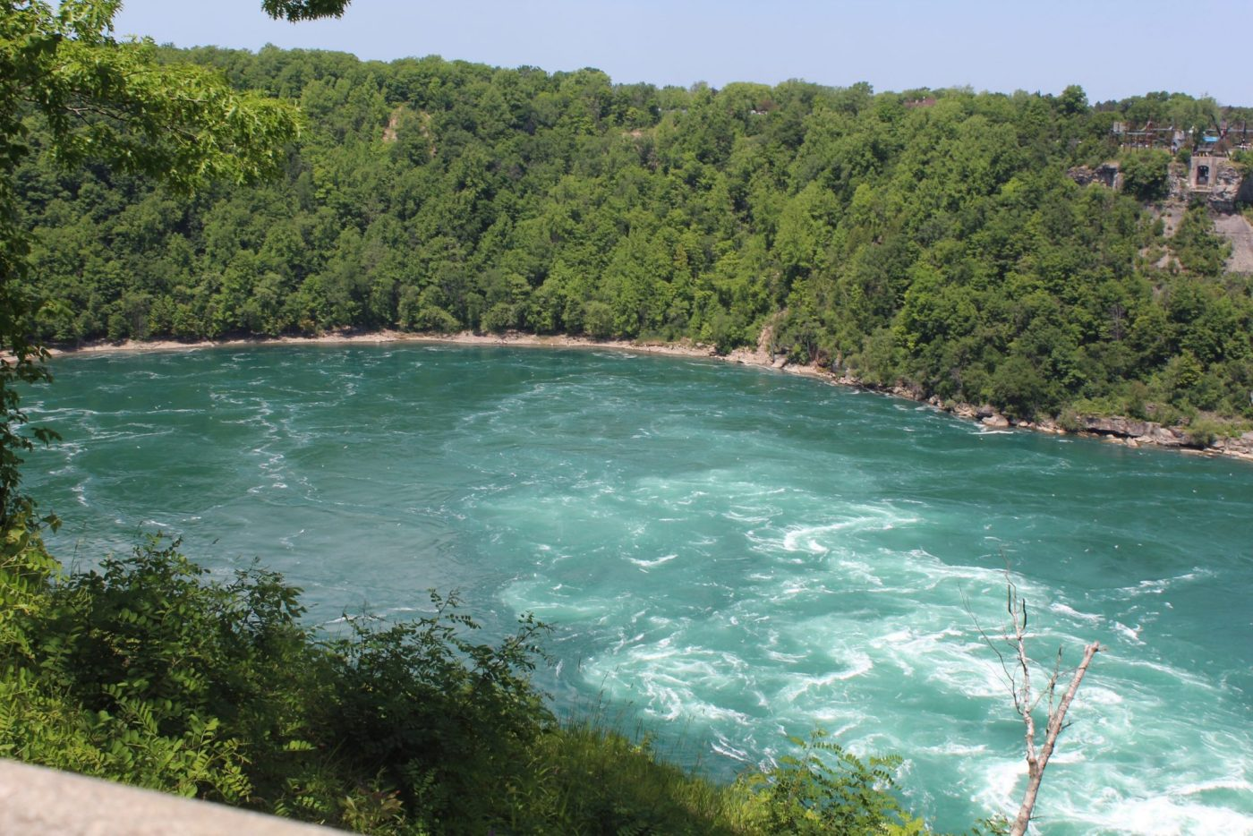 A photo of the Niagara River