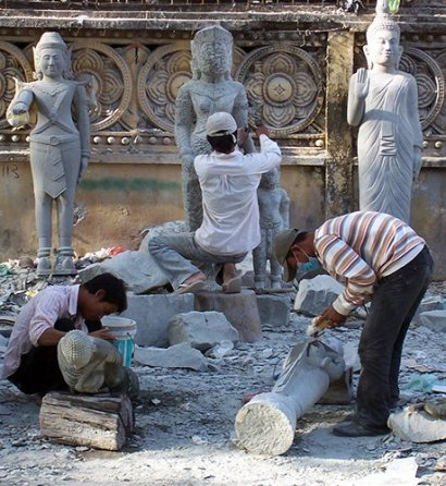 Stone Masons at work