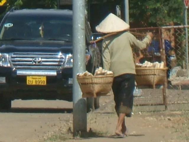 Street Vendor in Laos