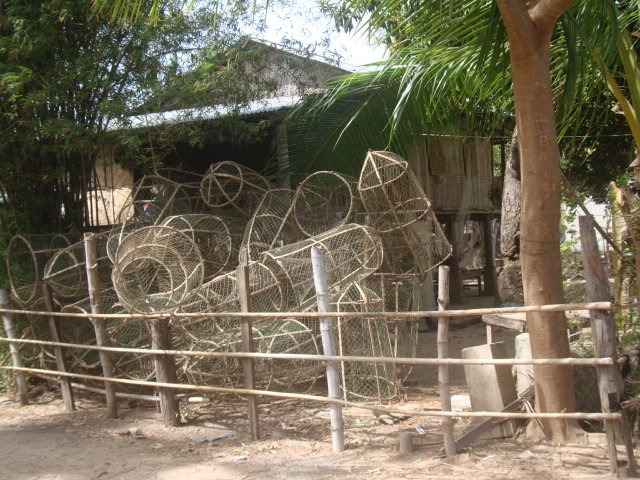 Traps for catching dinner in Laos