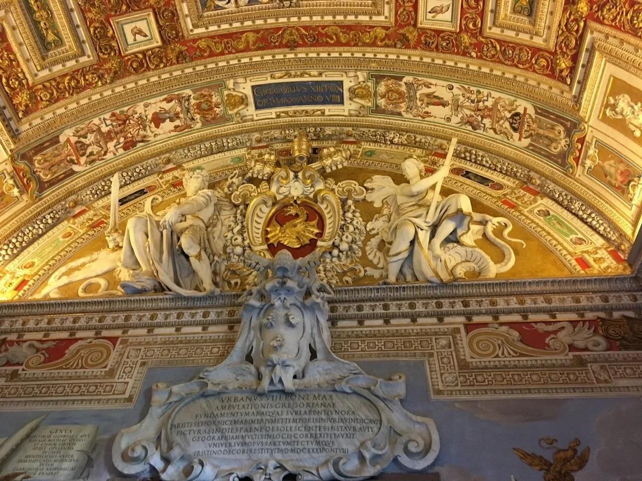 A wall inside the Sistine Chapel, Vatican City