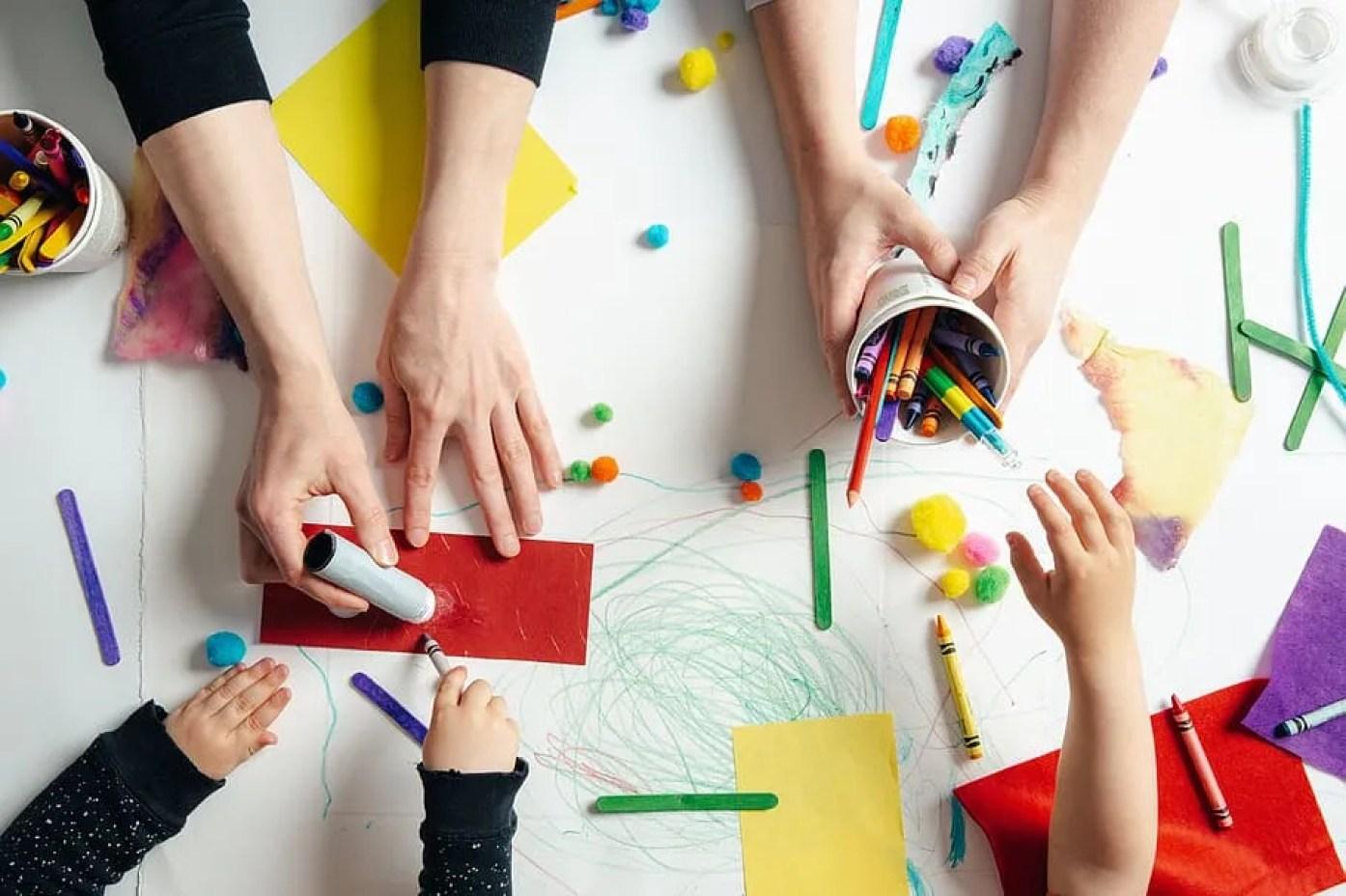 children being creative