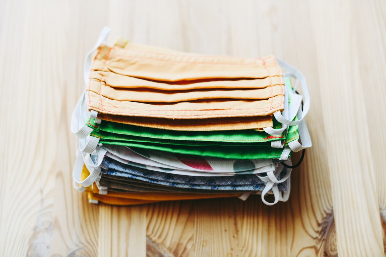 a photo of a stack of masks