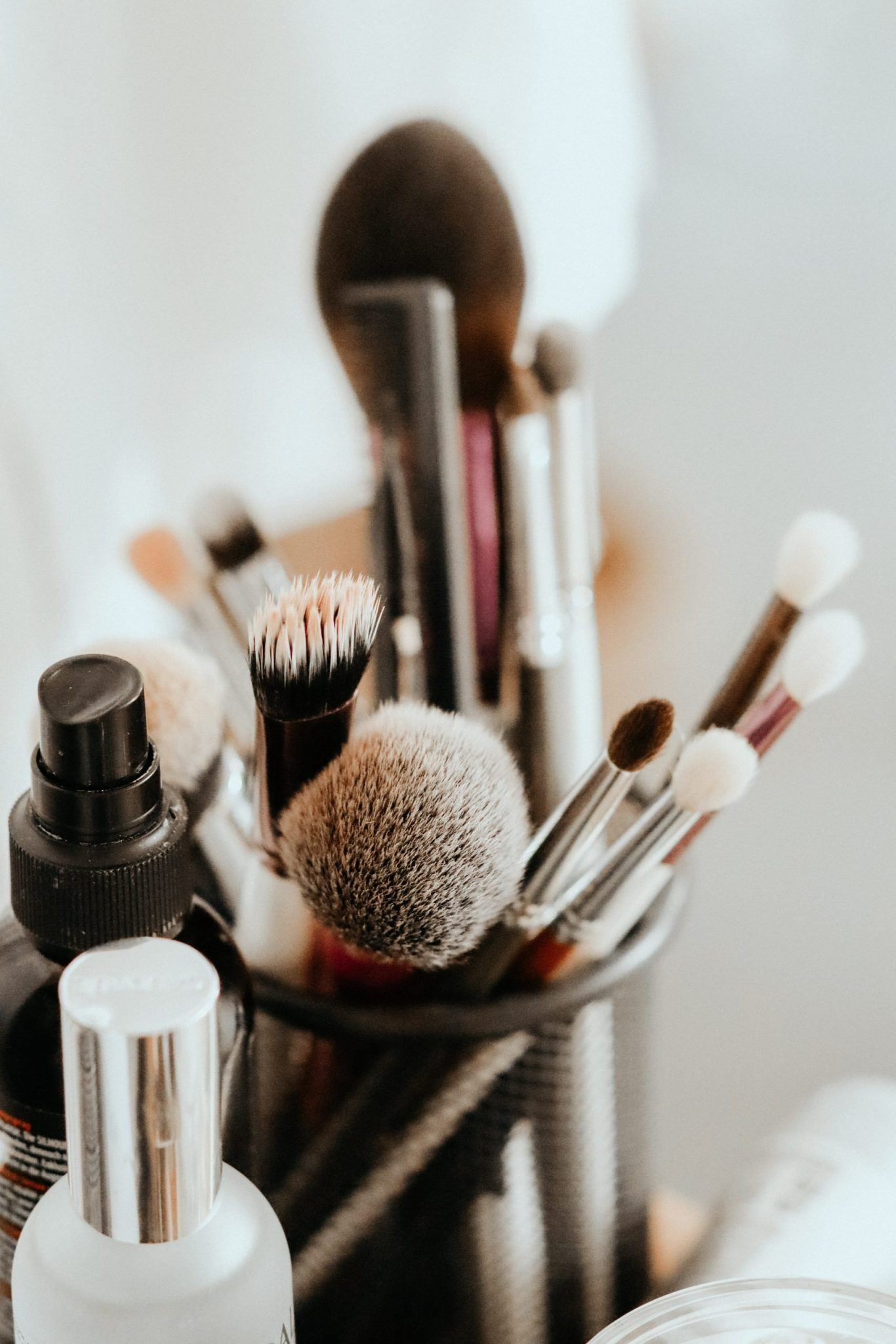 A picture of makeup brushes, which could be used by Ajay during his L'Oreal internship