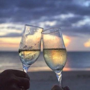 toasting glasses