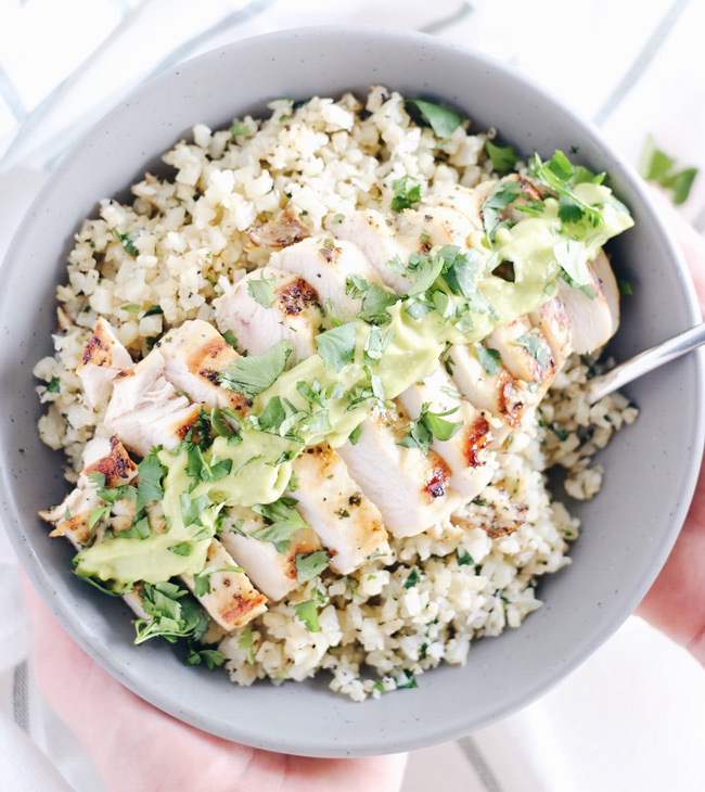 cilantro lime chicken bowl paleo
