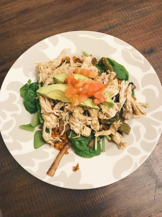 Paleo Chicken Taco Salad