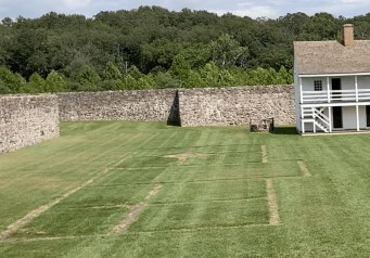 Foundation of General's House at Fort Frederick