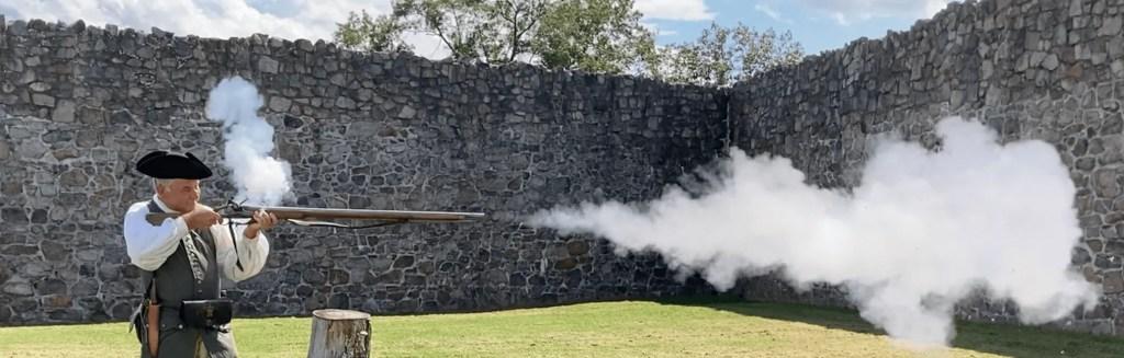 Musket Firing Demonstration at Fort Frederick
