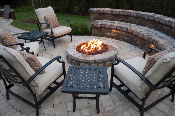 Add Hardscapes to Your Outdoor Living Space on Pavers Patio With Fire Pit id=76517