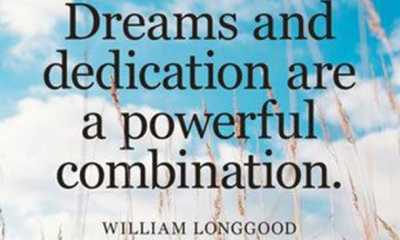 Inspirational Dreams Quotes about life Dreams and Dedication life quotes