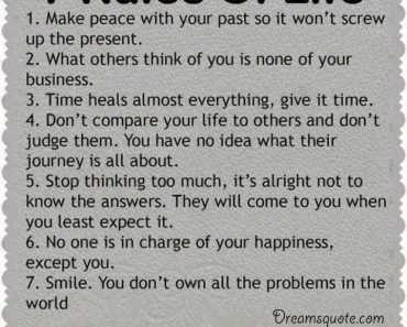 Positive quotes about life The 7 Rules of Life deep inspirational quotes