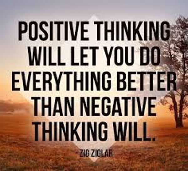 The Power Of Positive Thinking And Attitude Quotes Thinking Will Do