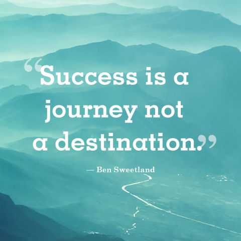 Short Positive Quotes U0027Success Is A Journey, Go With All Your Heart.  Encourage Sayings   Dreams Quote