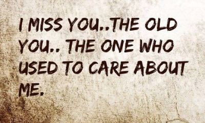 Sad Love Quotes About Love sayings I Miss You Who Care About me