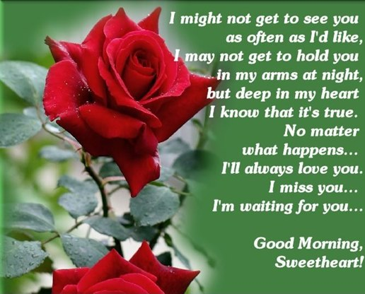 Good Morning Love Quotes Inspiration I Miss You Sweet Heart Good Morning Love Quotes  Dreamsquote