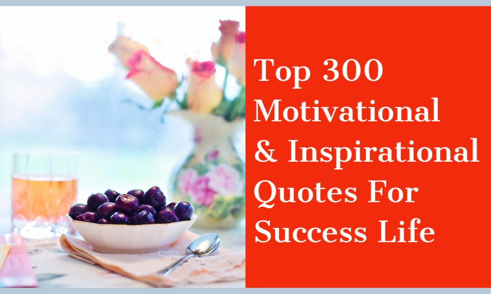300 Motivational Inspirational Quotes For Success Life Dreams Quote