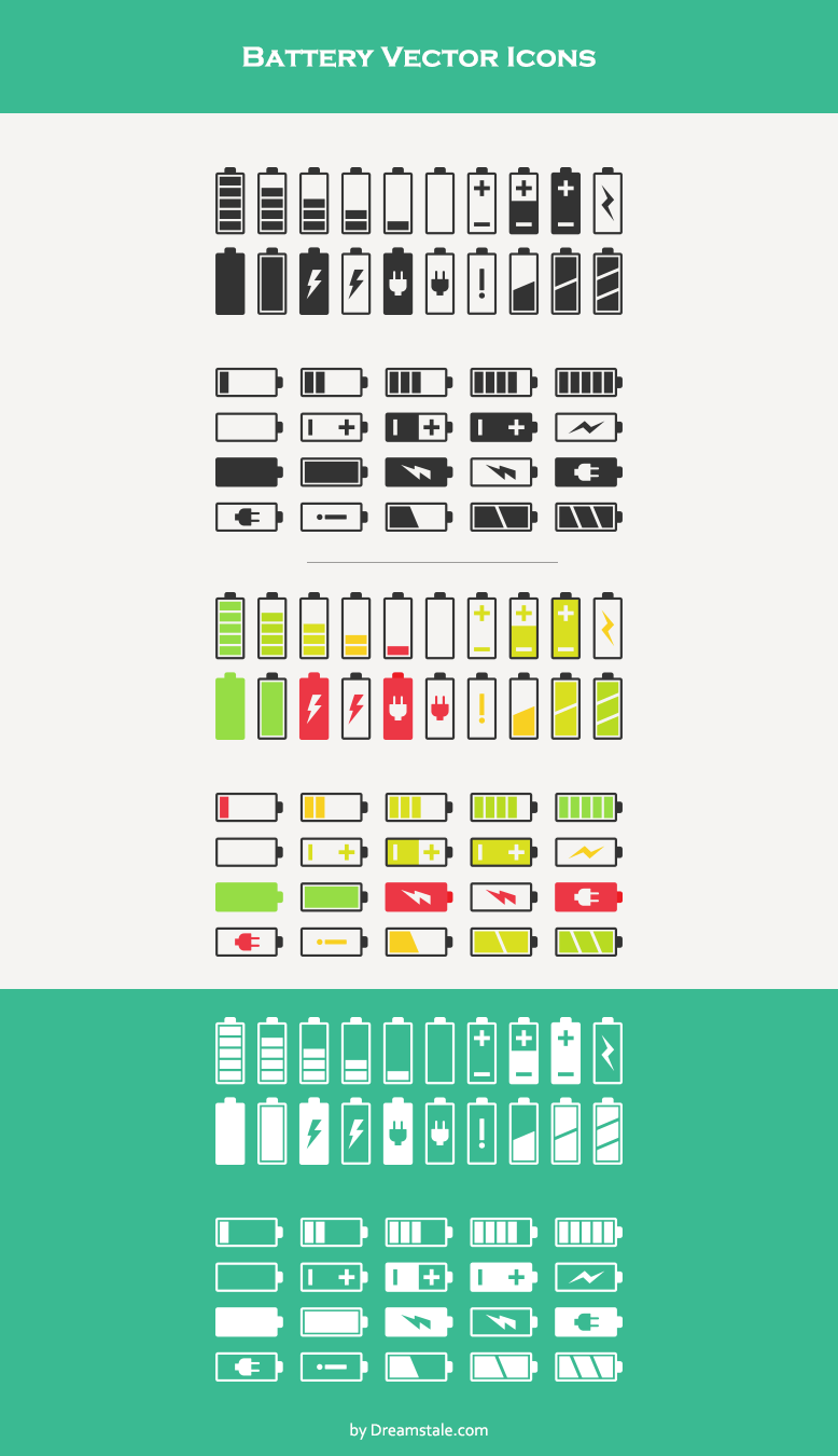 download battery vector icons 1