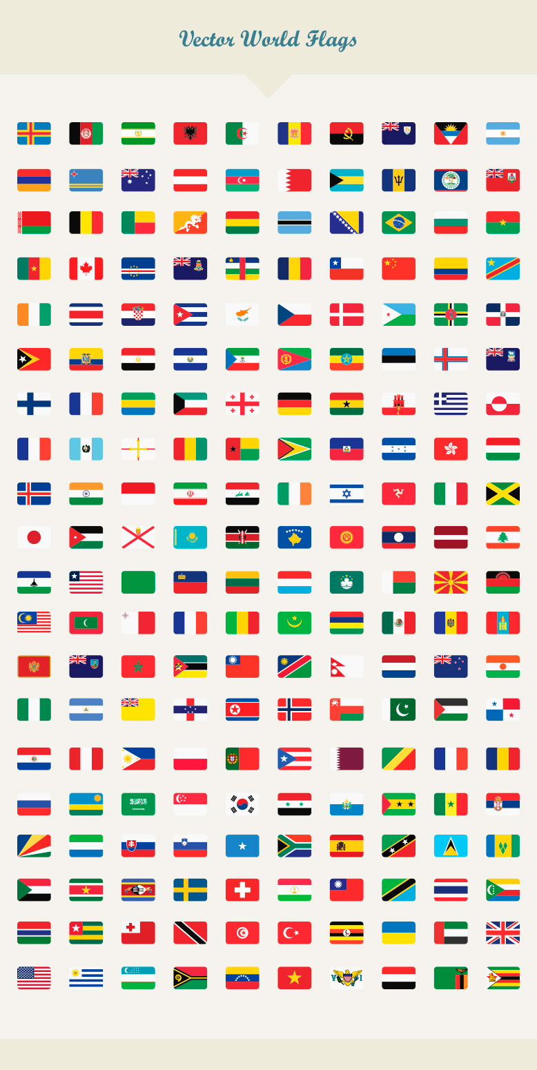 Vector World Flags Dreamstale