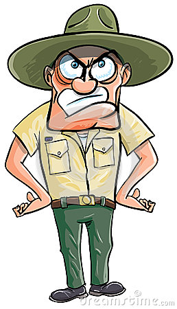 Angry Cartoon Drill Sargent. Royalty Free Stock Photos - Image: 25040278