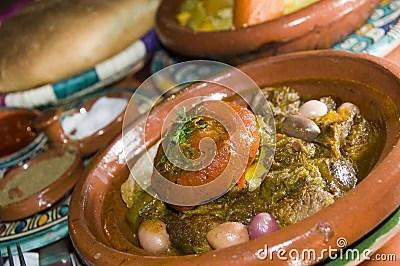 Lamb Tagine Dinner In Casablanca Morocco Royalty Free Stock Photos