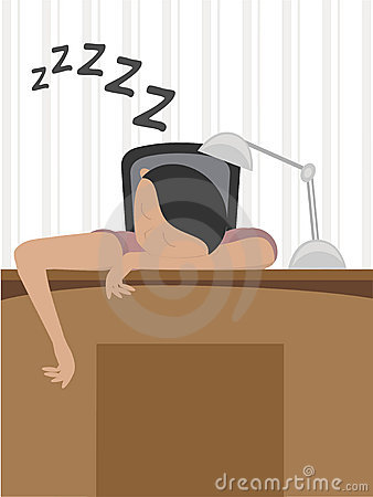 Man Asleep On Desk