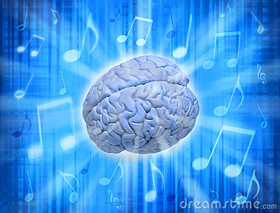 Music Creativity Brain Stock Image - Image: 9330041