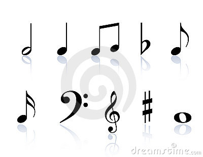 Royalty Free Stock Photo: Music notes symbols