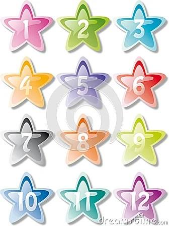 Numbered stars