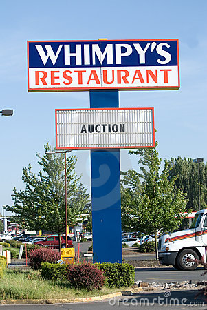 Restaurant Sign From Out Of Business Business Stock Image - Image: 19654841