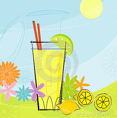 Retro Summer Lemonade (Vector) Royalty Free Stock Photography - Image: 2717877