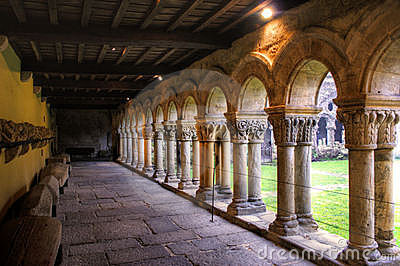 Romanesque cloister of Collegiata Santa Julian