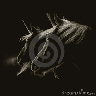 Royalty Free Stock Images: Tattoo design (horse)
