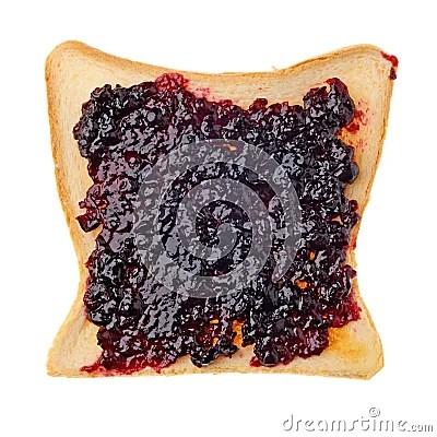 Toast With Jam Royalty Free Stock Photos