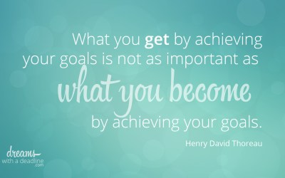 Becoming great by achieving goals
