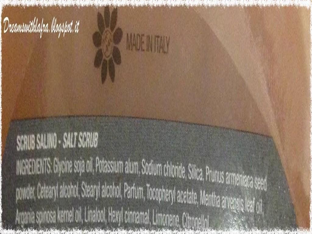 La Bottega dell'allume, l'innovativo mondo di prodotti a base di allume di rocca:SCRUB SALINO INCI