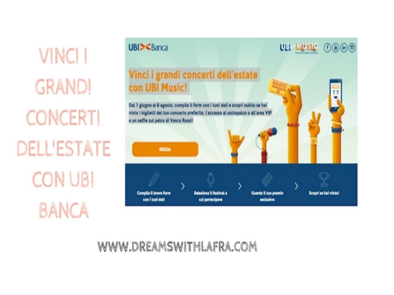 Concerti estate 2016 con UBI banca