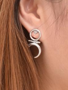 round-moon-earrings