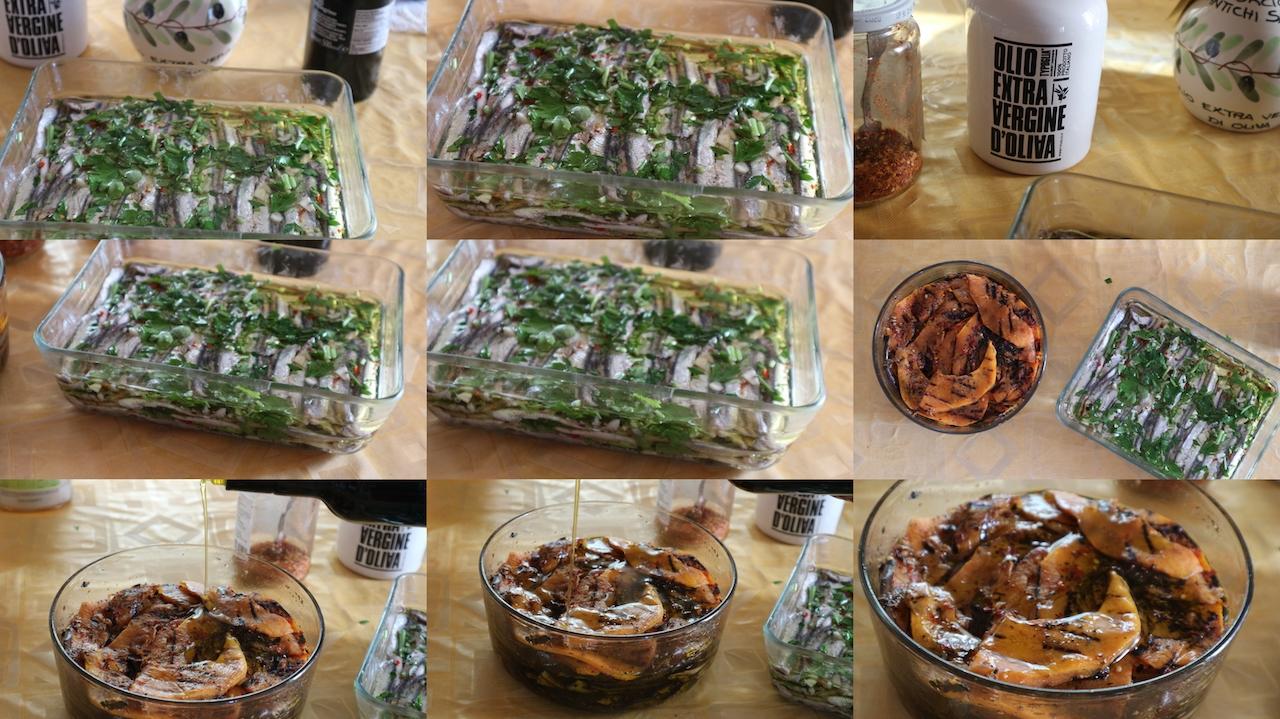 Piatti reallizzati con olio extra vergine d'oliva pellegrino
